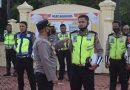 Wakapolres Bersama Pejabat Polres Nagan Raya Melaksanakan Giat Gaktibplin Serta Pengecekan Sikap Tampang
