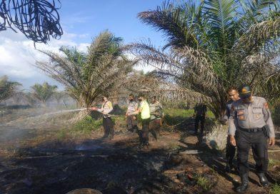 Polres Nagan Raya Padamkan Titik Api di Suak Puntong