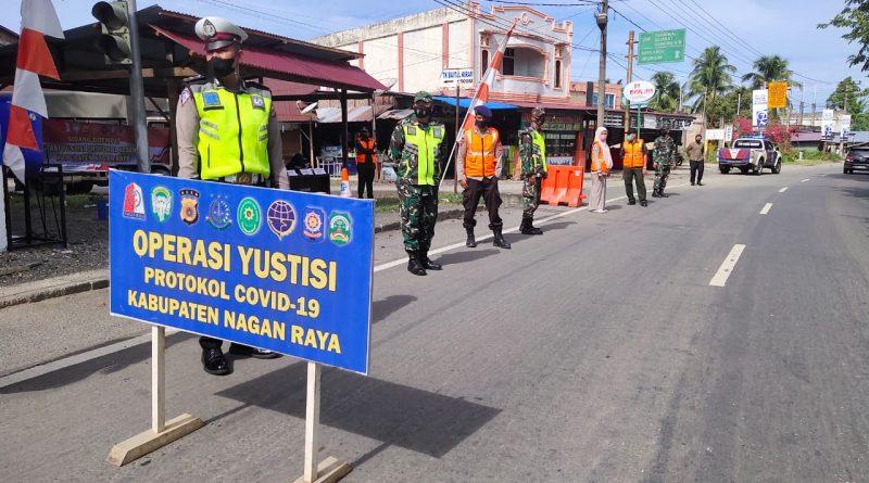 Tingkatkan Pendisiplinan Protokol Kesehatan, Satgas Covid-19 Kabupaten Nagan Raya Gelar Operasi Yustisi